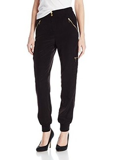 XOXO Juniors Soft Cropped Cargo Soft Pant with Zippers