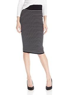 XOXO Women's Striped Midi Skirt