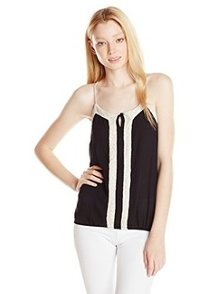 XOXO Women's Unice Lace Trim Cami Top
