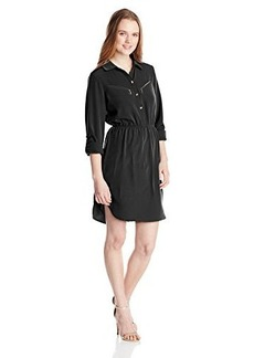 XOXO Women's Zip Pocket Shirt Dress