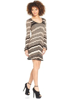 XOXO Zig-Zag Pointelle-Knit Dress