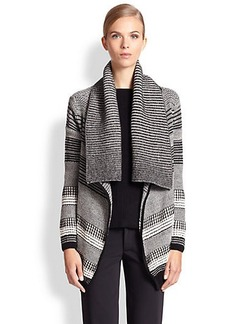 Yigal Azrouel Baby Alpaca Graphic Knit Cardigan