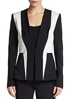 Yigal Azrouel Bicolored Stretch-Knit Jacket