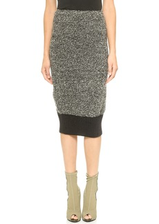 Yigal Azrouel Boucle Pencil Skirt