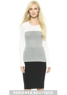 Yigal Azrouel Colorblock Knit Top