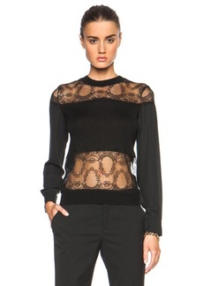 Yigal Azrouel Lace Blocked Top