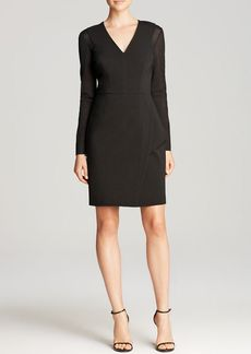 Yigal Azrouel Dress - Long Sleeved Wool Mesh Sleeves