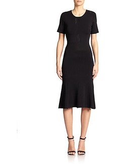 Yigal Azrouel Embroidered Knit Fit-&-Flare Dress