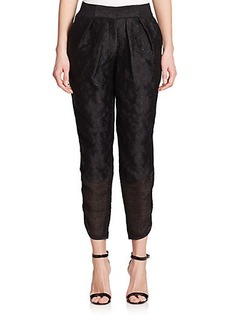 Yigal Azrouel Embroidered Paisley Pants