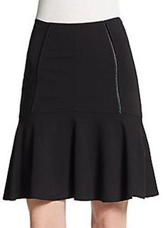 Yigal Azrouel Flounce Jersey-Knit Skirt