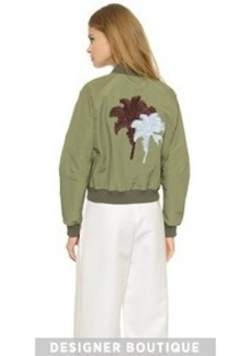 Yigal Azrouel Framed Palm Tree Bomber Jacket