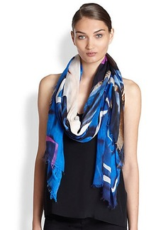 Yigal Azrouel Graphic Explosion Modal & Cashmere Scarf