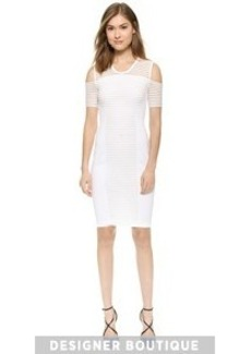 Yigal Azrouel Mesh Ottoman Cutout Dress