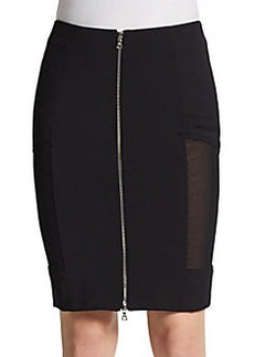 Yigal Azrouel Mesh-Paneled Pencil Skirt