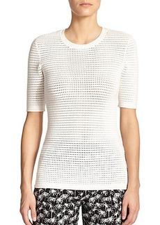 Yigal Azrouel Mesh Sweater Top