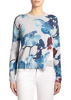 Yigal Azrouel Orchid-Print Layered Sweater