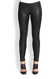 Yigal Azrouel Sheer Insert Leather Leggings