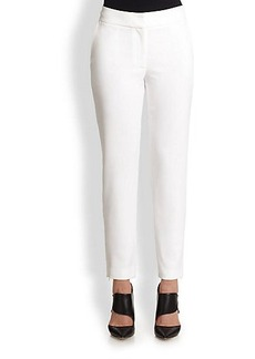 Yigal Azrouel Slim-Fit Double Face Crepe Trousers