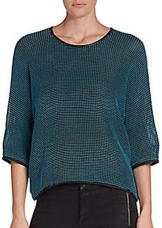 Yigal Azrouel Stitch-Jacquard Pullover