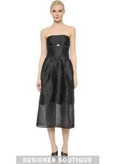 Yigal Azrouel Strapless Paisley Dress