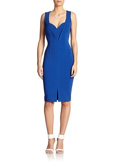 Yigal Azrouel Sweetheart Knit Sheath