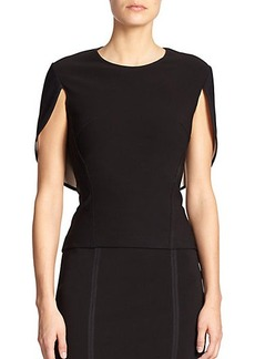 Yigal Azrouel Vented Cape Blouse