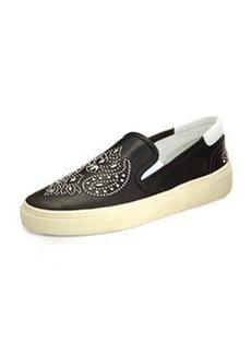Bandana Studded Leather Skate Shoe, Noir   Bandana Studded Leather Skate Shoe, Noir