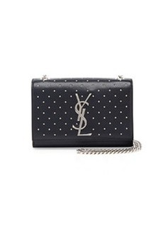 Monogramme Studded Crossbody Bag, Black   Monogramme Studded Crossbody Bag, Black