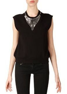 Neck-Chain Sweatshirt Top   Neck-Chain Sweatshirt Top