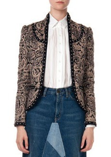 Paisley Jacket with Stud Trim   Paisley Jacket with Stud Trim