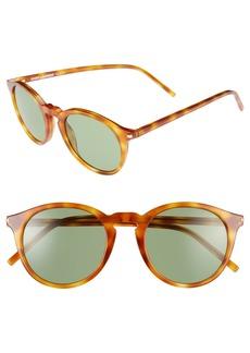 Saint Laurent 49mm Retro Sunglasses