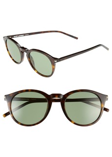 Saint Laurent 49mm Retro Sunglasses