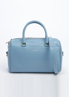Saint Laurent azure blue leather logo stamp convertible mini duffle bag