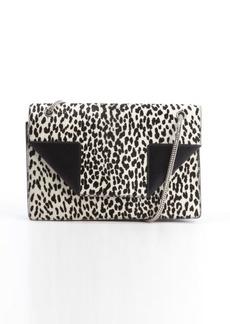 Saint Laurent black leather and printed calf hair medium 'Betty' shoulder bag