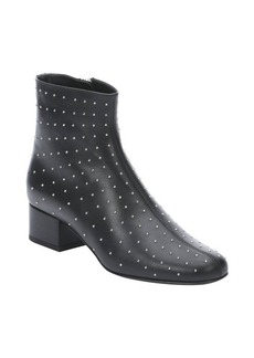 Saint Laurent black leather 'Babies 40' studded boots