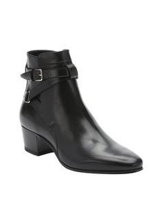 Saint Laurent black leather 'Blake Johdpur' ankle boots