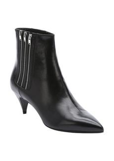 Saint Laurent black leather 'Cat 50' triple side-zip chelsea booties