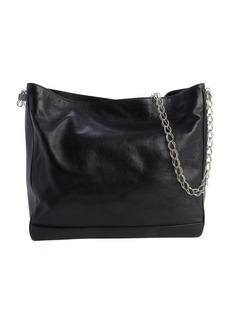 Saint Laurent black leather chain strap large tote
