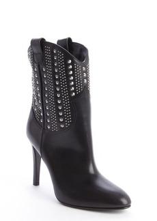 Saint Laurent black leather 'Debbie' studded detail boots