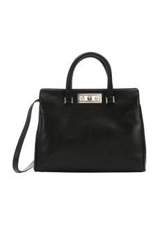 Saint Laurent black leather medium 'Trois Clous' convertible tote