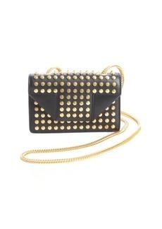 Saint Laurent black leather 'Mini Betty' studded detail small shoulder bag