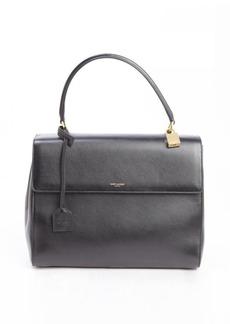 Saint Laurent black leather 'Moujik' medium top handle convertible bag