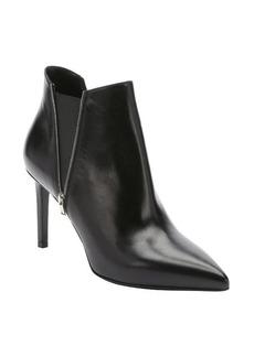 Saint Laurent black leather 'Paris 80' zip detail chelsea ankle booties