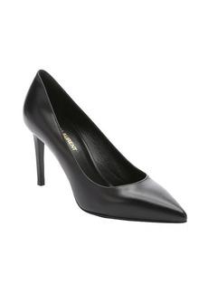 Saint Laurent black leather 'Paris' stiletto pumps
