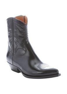 Saint Laurent black leather 'Santiag 40' western ankle boots