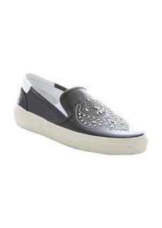 Saint Laurent black leather 'Skate 20' studded slip-on sneakers