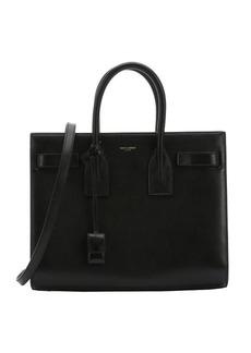 Saint Laurent black leather small 'Sac De Jour' convertible tote