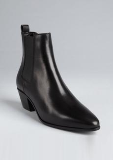 Saint Laurent black leather stretch gusset chelsea boots