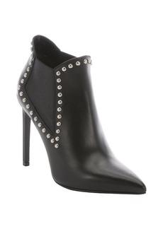 Saint Laurent black leather studded chelsea ankle booties