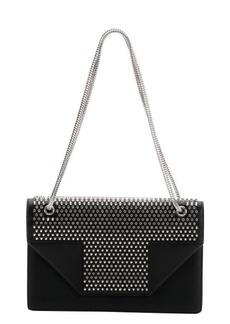 Saint Laurent black leather studded medium 'Betty' shoulder bag